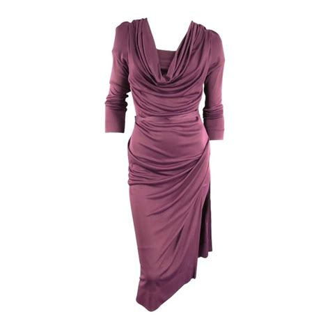 Dress Of The Day Tocca Vivienne Dress by Vivienne Westwood Label Size L Plum Draped Viscose