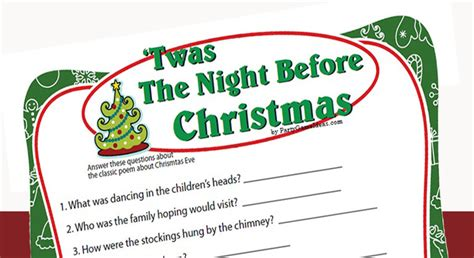 printable version of twas the night before christmas twas the night before christmas game printable game