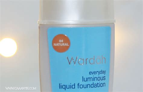 Wardah Foundation Luminous foundation untuk kulit cokelat wardah luminous foundation