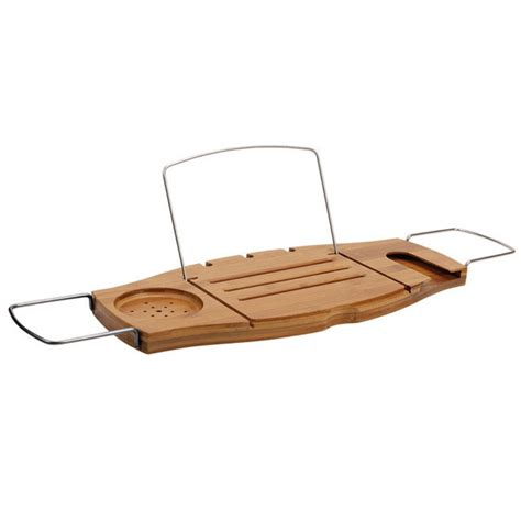 umbra bathtub caddy umbra aquala expandable bamboo bathtub caddy natural