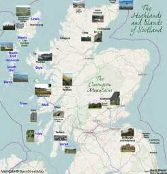 map of highland castles pictures to pin on pinterest