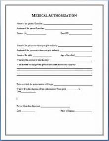 Authorization Letter Accompany Child medical authorization form 1 microsoft word format file size 28 kb