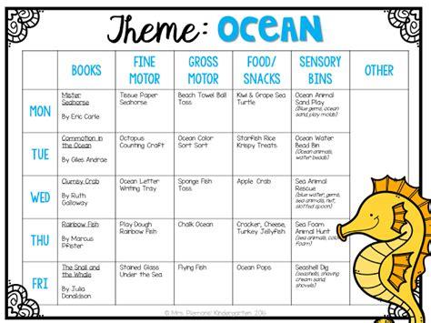 kindergarten themes thematic units tot school ocean tot school kindergarten classroom and