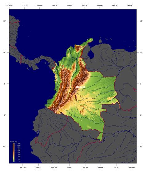 south america map colombia maps of colombia map library maps of the world