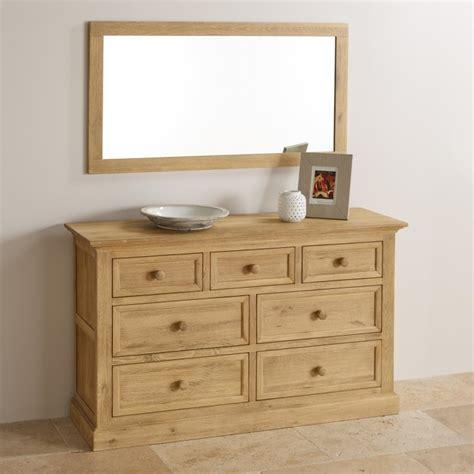 Canterbury Oak Sideboard Coastal 110cm X 56cm Wall Mirror In Solid Oak