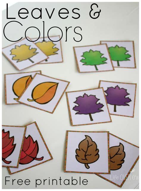printable preschool leaf activities free fall colors printable activities for preschoolers