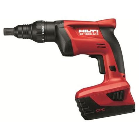 hilti st 1800 18 volt lithium ion 1 4 in hex cordless