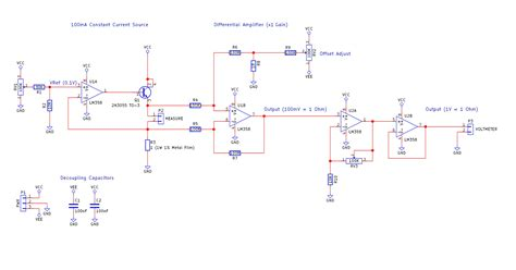 build your own low resistance meter electrical diagram