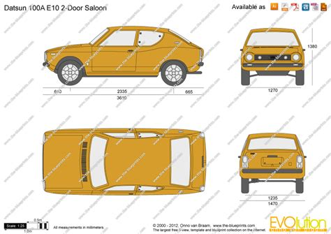 Draw To Scale Online the blueprints com vector drawing datsun 100a e10 2