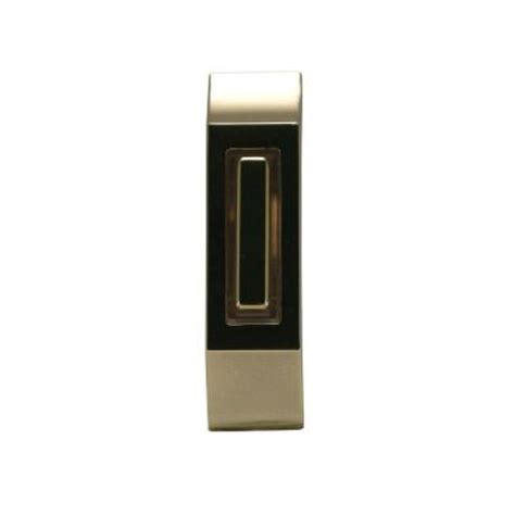iq america wired lighted doorbell push button polished