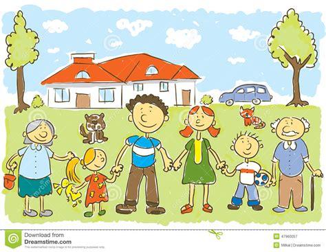 imagenes de la familia rural familia ilustraci 243 n del vector imagen 47960057