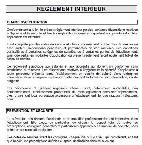 Modèle Règlement Intérieur Conseil D Administration un exemple de r 232 glement interne d une entreprise parole