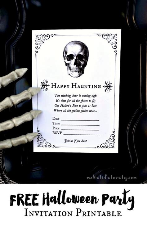 free printable halloween invitation maker free halloween party invitation printables make life lovely
