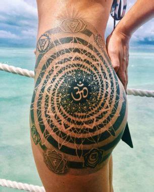 mandala tattoo with om leg tattoos best tattoo ideas designs
