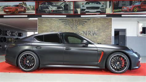 Matte Black Porsche Panamera Gts By Nrw