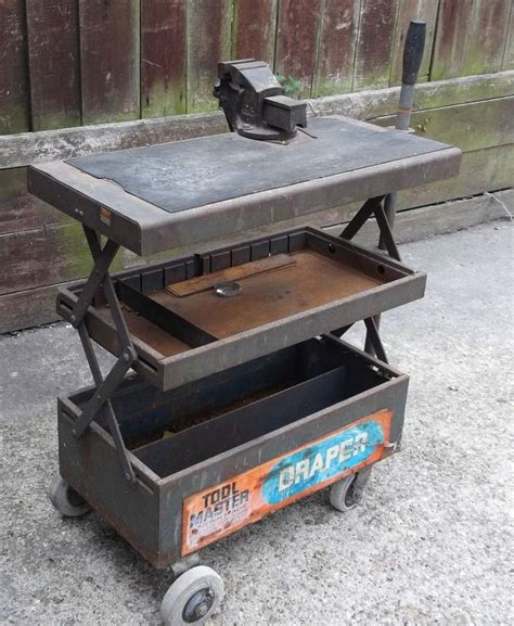 work bench tool box old vintage draper tool box trolley work bench with vice tools tool box and vintage