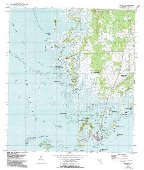 cedar key topographic map fl usgs topo 29083b1