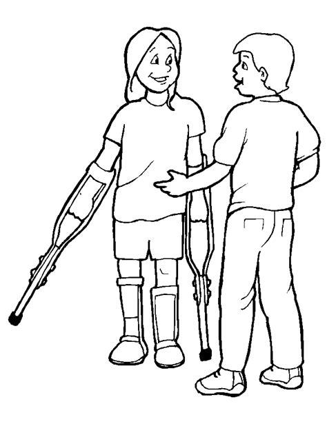 imagenes niños con discapacidad mi colecci 243 n de dibujos dibujos de discapacidad para colorear