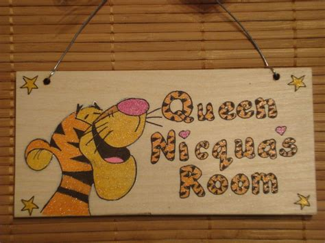 Handmade Door Signs - tigger handmade wooden personalised childrens bedroom door