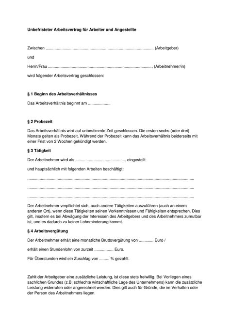 Kostenlose Vorlage Arbeitsvertrag Minijob Kostenlose Muster F 252 R Alle Arten Arbeitsvertr 228 Ge