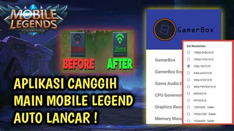 main mobile legend ngelag parah cobain aplikasi