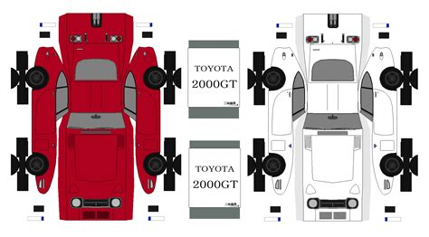 Toyota Papercraft - toyota 2000 gt paper toys paper models