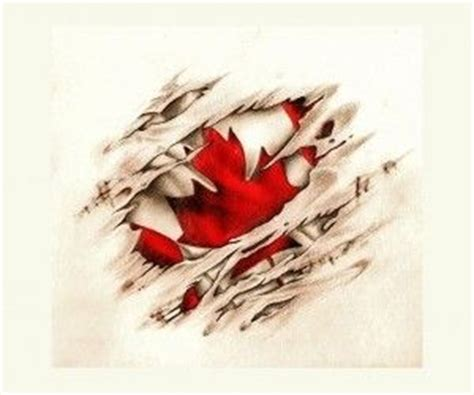canadian scratched flag tattoo wallpaper my style