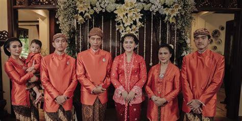 biodata cucu jokowi wedding ceremony of president s daughter continues despite
