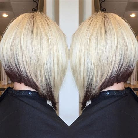 inverted two tone blonde bob style 2015 20 charming layered bob hairstyles styles weekly