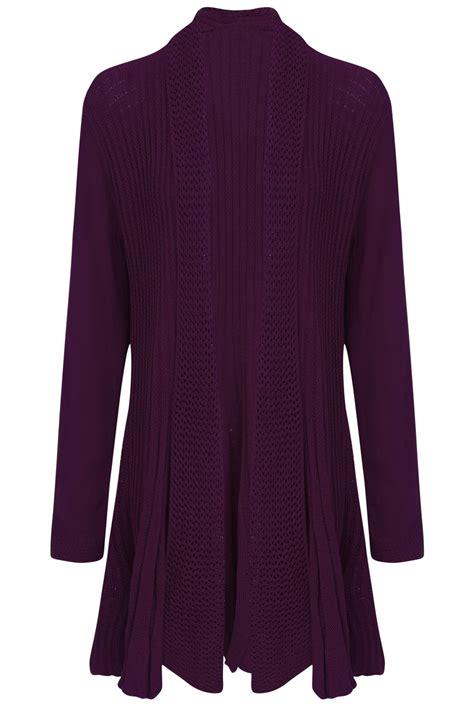New Kardigan new womens sleeve crochet knitted waterfall open cardigan plus size
