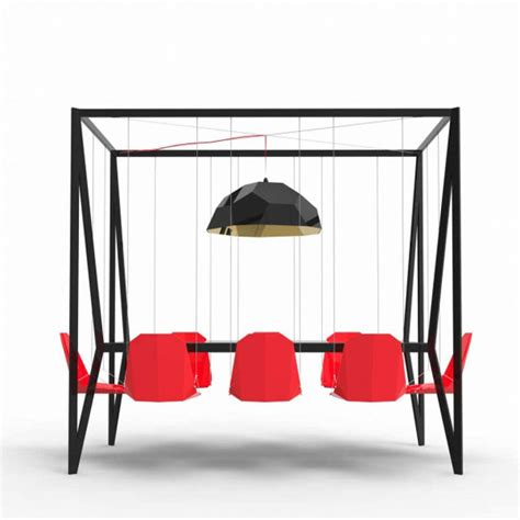 swinging table go over the bar dining table with swings for chairs