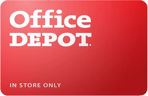 buy office depot in store only gift cards discounts up