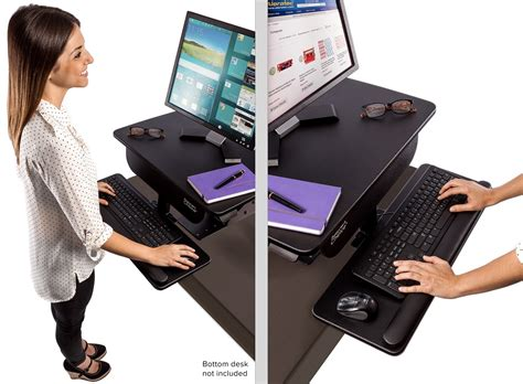 adjustable standing desk workstation adjustable height gas spring easy lift standing desk sit