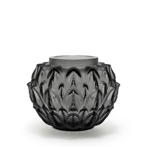 vasi lalique vase cynara cristal gris lalique vase lalique
