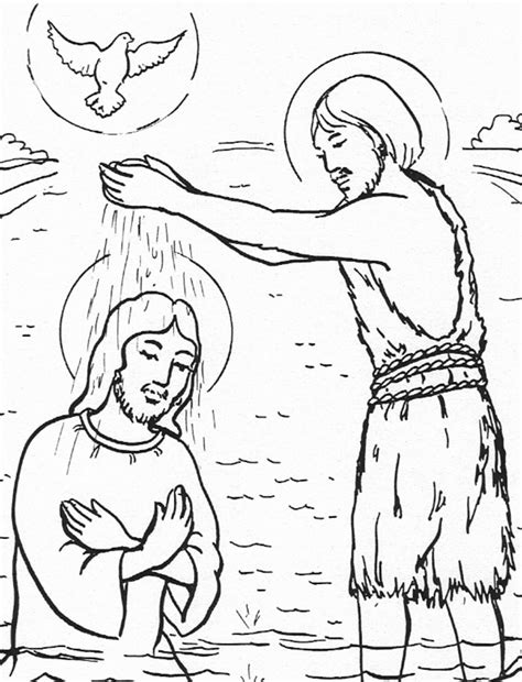 free coloring page baptism of jesus free baptism of children coloring pages