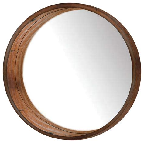 Oriental Bathroom Ideas Round Wooden Wall Mirror Rustic Wall Mirrors By Ptm