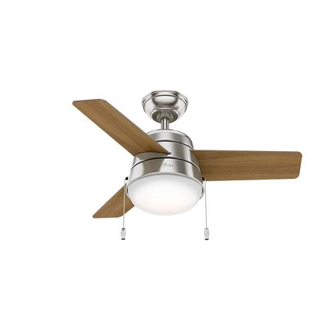 36 ceiling fan with light aker 36 in led indoor brushed nickel ceiling fan