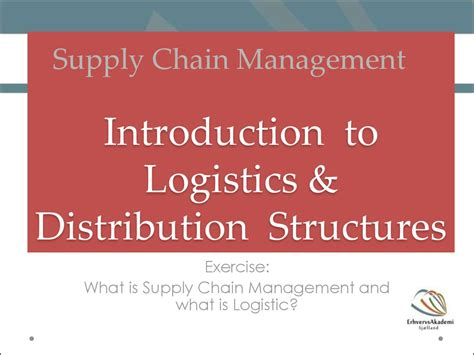 Mba In Global Supply Chain Management by Introduction Of Logistics And Supply Chain Management