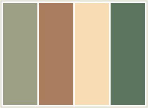 colorcombo79 with hex colors 9c9f84 a97d5d f7dcb4 5c755e 17 best images about paints on pinterest paint colors