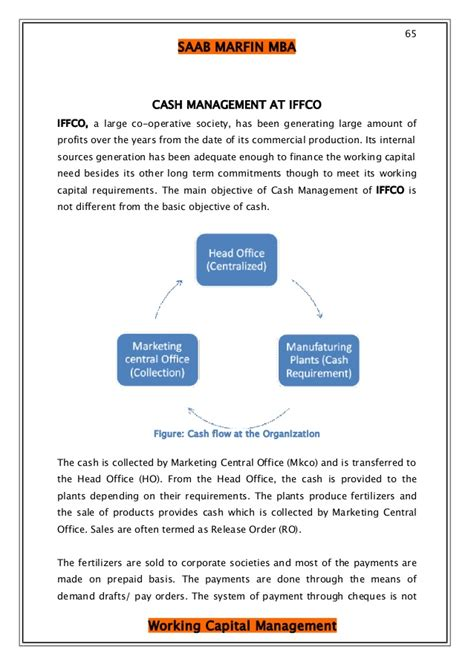 Mba Finance Project Report On Capital Budgeting by Project Report On Working Capital Mgmt