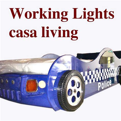 police car bed new kids boys childs toddler blue police car bed only no mattress ebay