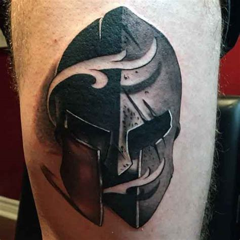 spartan shield tattoo 50 spartan designs for masculine warrior ideas