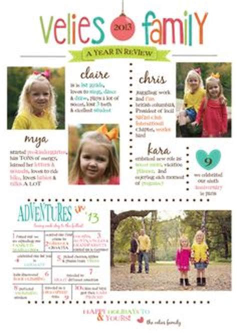 card newsletter template 1000 images about year in review cards on