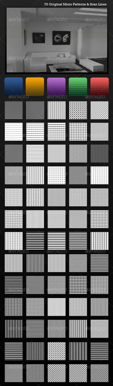 scan line pattern photoshop ultimate scanlines micro patterns 70 pack graphicriver