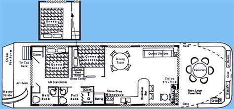 8 wide pontoon houseboat plans 15 x 52 wide body 6 to 8 sleeper fun n the sun