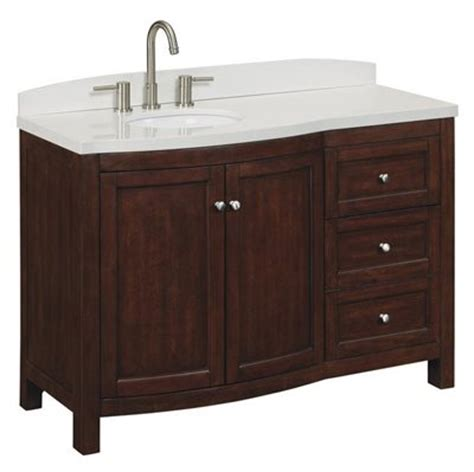 allen roth moravia sable undermount bathroom vanity  engineered stone top
