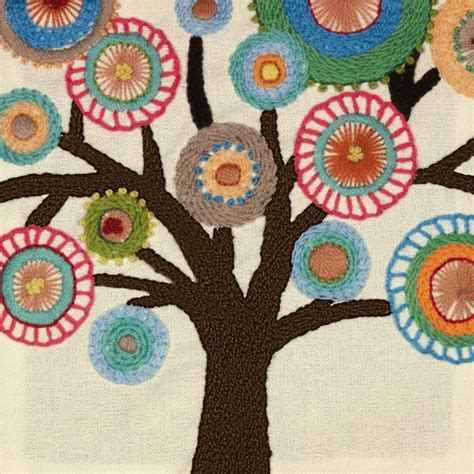 Embroidery Handmade Designs - tree crewel embroidery kit easy embroidery kits at