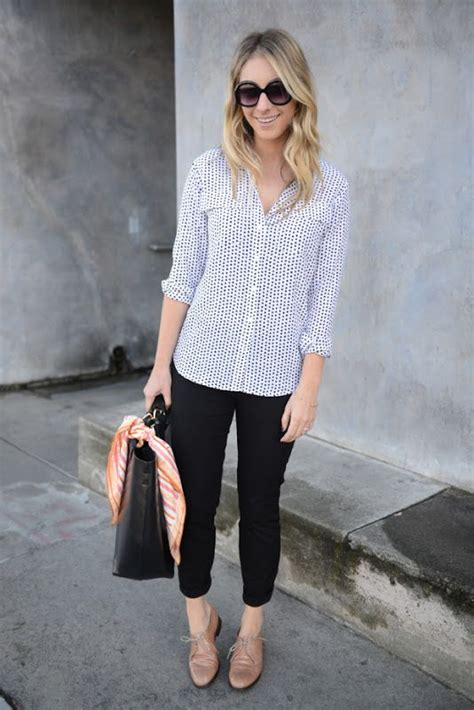 Ed Oxford Brown how to wear cropped polka dot shirt oxfords and