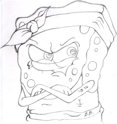 gangsta spongebob coloring page gangster spongebob by xedous on deviantart
