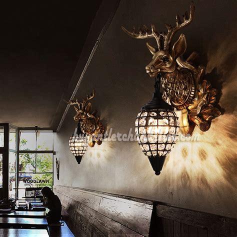 hanging deer lights stag deer antler wall sconces ls hanging lights